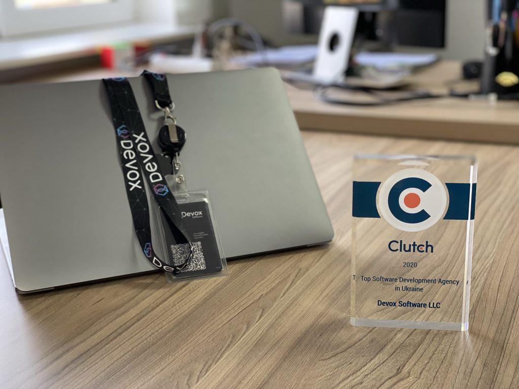Clutch Leader Award in Devox Software office